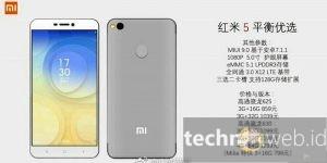 Ini Bocoran Harga dan Spesifikasi Xiaomi Redmi 5